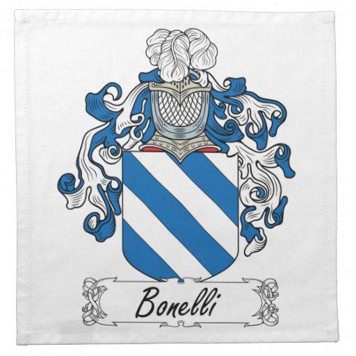 Bonelli Family Crest Cloth Napkin