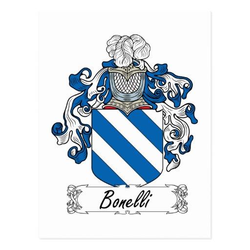 Bonelli Family Crest Postcards