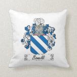 Bonelli Family Crest Throw Pillows