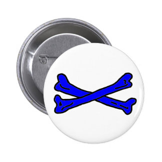 Bones Blue jGibney The MUSEUM Zazzle Gifts Button