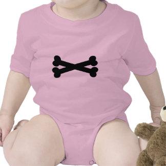 Bones crossed baby bodysuits