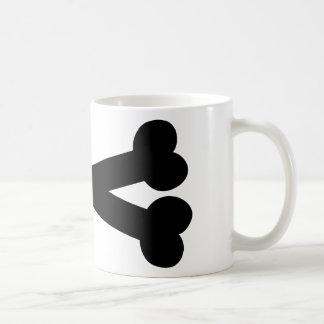 Bones crossed mug