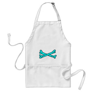Bones Cyan The MUSEUM Zazzle Gifts Adult Apron