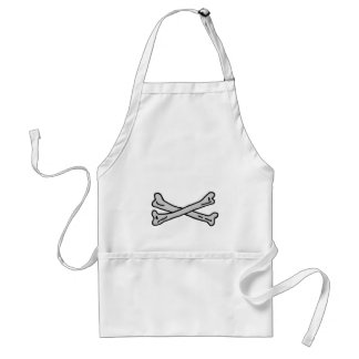 Bones Grey The MUSEUM Zazzle Gifts Aprons