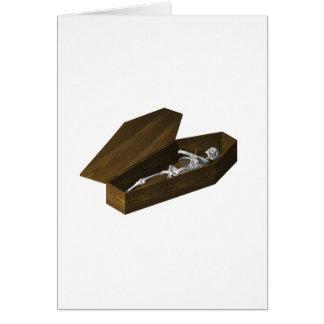 Bones in a Coffin: Halloween: Greeting Card