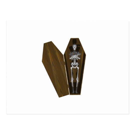 Bones in a Coffin: Halloween: Postcard
