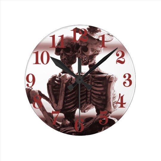 Bones In Love Round Clock