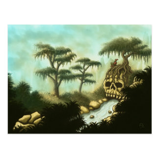 bones of giants fantasy art postcard