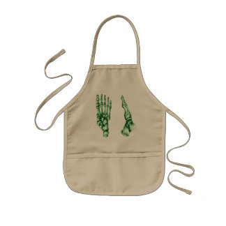 Bones of the feet - light green kids' apron