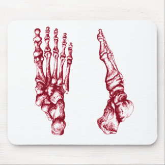 Bones of the feet - light red mouse pad