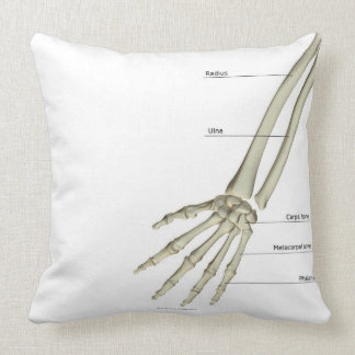 Bones of the Forearm Throw Pillow