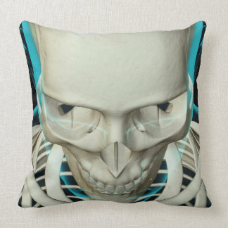 Bones of the Head and Face Throw Pillow