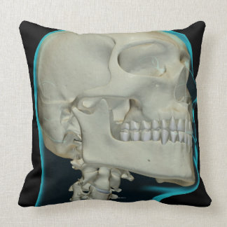 Bones of the Head and Neck 8 Throw Pillow