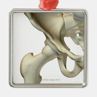 Bones of the Hip 5 Metal Ornament