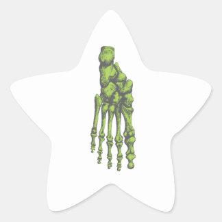 Bones of the human foor. star sticker