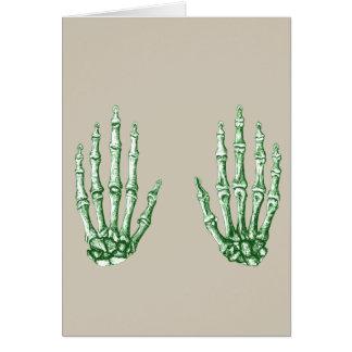 Bones of the Human Hand Card