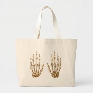Bones of the Human Hand Large Tote Bag