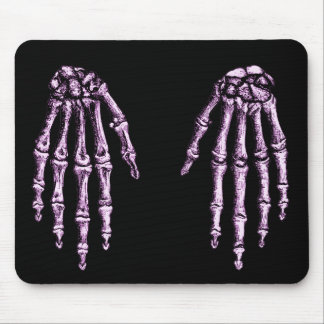 Bones of the human hand mouse pad