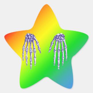 Bones of the Human Hand Star Sticker