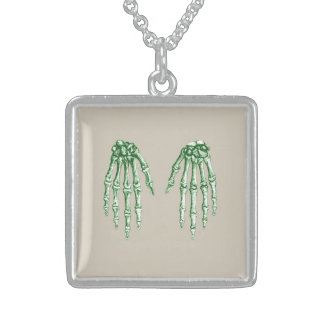 Bones of the Human Hand Sterling Silver Necklace