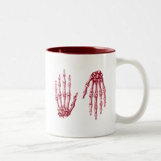 Bones of the Human Hand Two-Tone Coffee Mug