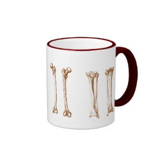 Bones of the human lower limbs ringer mug
