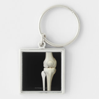Bones of the Knee 4 Silver-Colored Square Keychain
