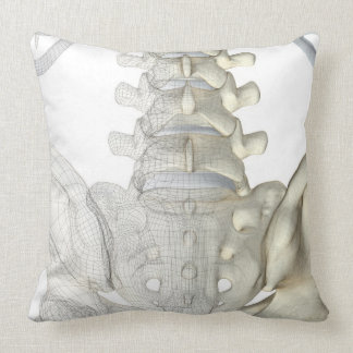 Bones of the Lower Back 3 Throw Pillows