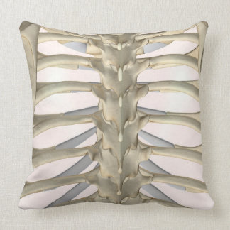 Bones of the Thoracic Vertebrae Throw Pillow