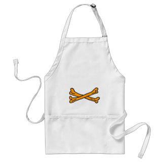 Bones Orange The MUSEUM Zazzle Gifts Adult Apron