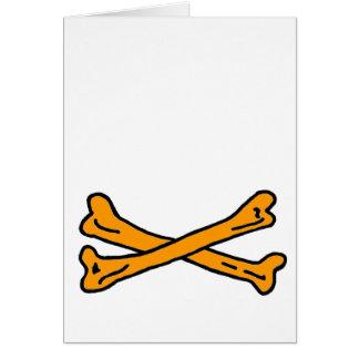 Bones Orange The MUSEUM Zazzle Gifts Card