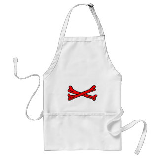 Bones Red The MUSEUM Zazzle Gifts Adult Apron