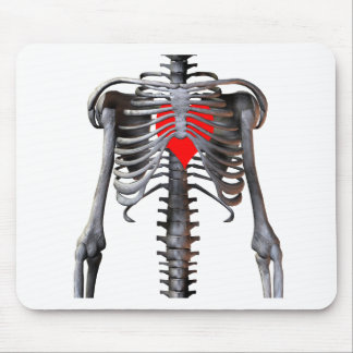 Bones with a heart mouse pad