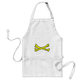 Bones Yellow The MUSEUM Zazzle Gifts Adult Apron