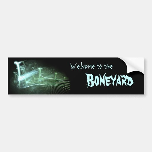 """Boneyard"" Bumbersticker Pegatina De Parachoque"