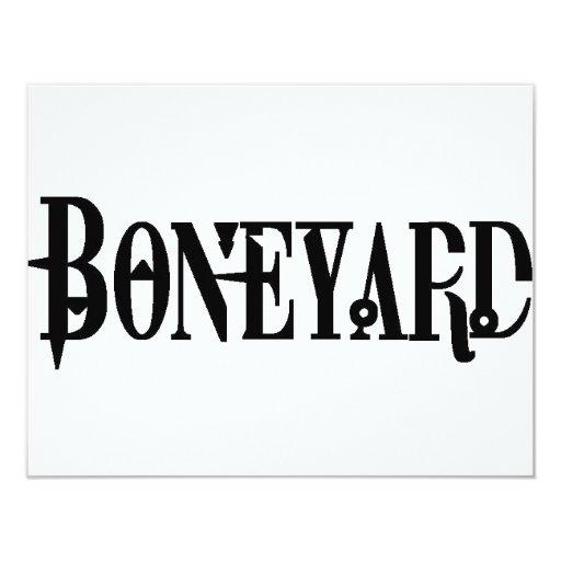 Boneyard - Logo 4.25x5.5 Paper Invitation Card