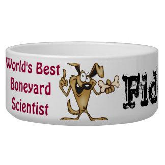 Boneyard Scientist Customized Dog Bowls