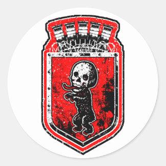 Bonez Bear Round Sticker