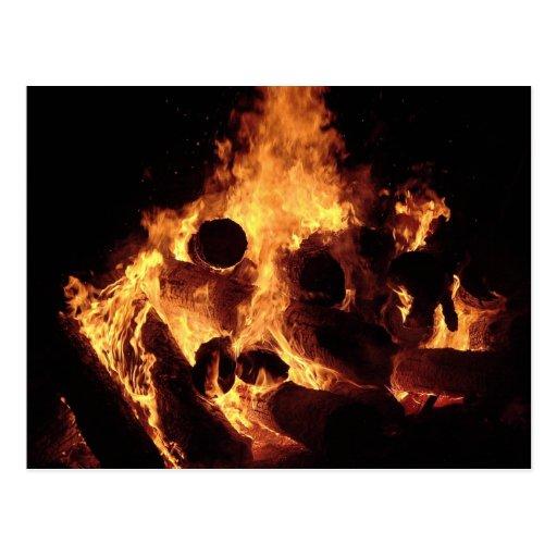 Bonfire #3 postcard