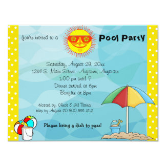 Bonfire And Pool Party Celebration Invitation