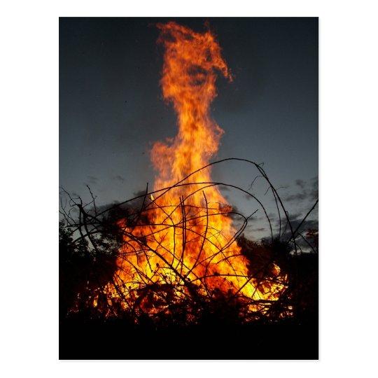 Bonfire at  Postcards