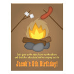 Bonfire Camping Birthday Party Personalized Invitation
