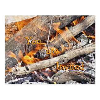 Bonfire Cookout Postcard Invitation- customize