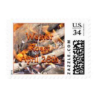 Bonfire Cookout Stamp- customize Postage