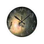 Bonfire -custom illustrated clock