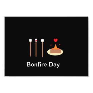"Bonfire Day 5"" X 7"" Invitation Card"