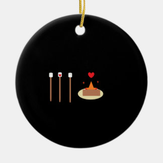 Bonfire Day Double-Sided Ceramic Round Christmas Ornament