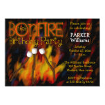 Bonfire Marshmellow Roast 16th Birthday Party 5x7 Paper Invitation Card