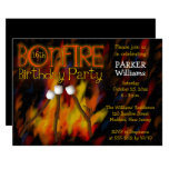 Bonfire Marshmellow Roast 16th Birthday Party Card