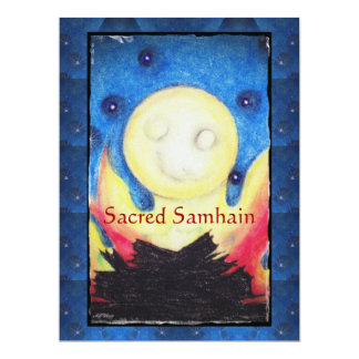 Bonfire Moon Samhain Witch Wiccan Pagan 6.5x8.75 Paper Invitation Card